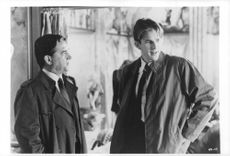 Matthew Avery Modine and Colin Quinn in a scene from the movie Married to the Mob, 1988.