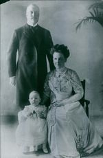Duke Henry of Mecklenburg-Schwerin posing with his family.