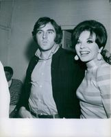 Anthony Newley with his wife Joan Collins. 1966.