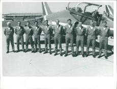 Red arrows aircraft:Team photo.