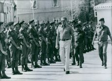 General Ezer Weizman, reviewing a guard of honor mustered specially specially to celebrate his appointment.