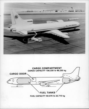A converted TriStar that connects to an underground hydrogen tank