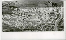 View of Melbourne's Olympic city before the 1956 Olympics