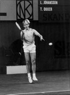 Leif Tennis player Leif Johansson in action at match