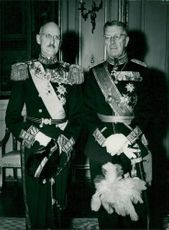 King Håkon VII of Norway and King Gustaf VI Adolf