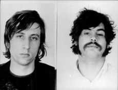 Portraits of the West German terrorists Karl-Heinz Dellwo and Werner Hoppe.