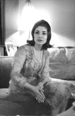 Princess Shahnaz Pahlavi sitting.