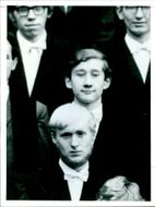 Michael Bettaney with other attending pembroke college