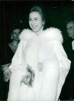 The Prince Anne of England at the Odeon Cinema to watch a movie.