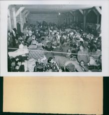 People gathered in the hall during Second-Sino Japanese war.