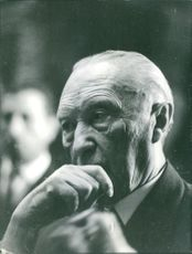 Portrait of Konrad Adenauer.