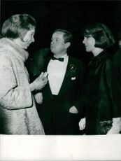 Princess Maria Gabriella talking to people.
