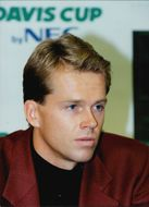 Stefan Edberg during a press conference in connection with the Davis Cup