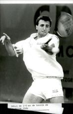 Italian tennis player Diego Nargiso