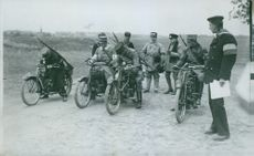 Velocipedes during field exercise