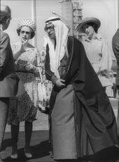 Queen Elizabeth visits Liquified Petroleum Gas in Mina-Amadhi, Kuwait