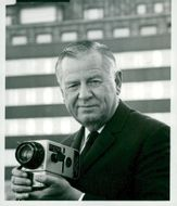 Portrait of director and camera designer Victor Hasselblad.