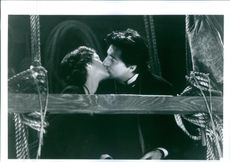 Winona Ryder and Gabriel Byrne share a kiss in one of the scenes of the film, Little Women.