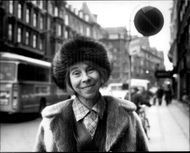 The author of Tove Jansson in the town hall square in Copenhagen
