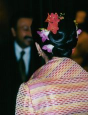 Queen Silvia during the state visit in Malaysia.