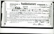 Mortgages on the estate as August Strindberg pledged to get rid of it after divorce from wife Harriet Bosse.