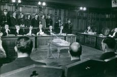 View of a court room. 1962