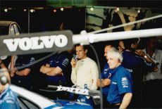 Rickard Rydell and the Volvo team oversee other competition classes at Brands Hatch.