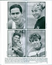 Top left; Anthony Ruivivar, Dion Basco, J. Moki Cho and Casey Affleck star in the movie, Race the Sun.