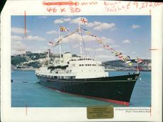 The royal yacht Ship britannia.