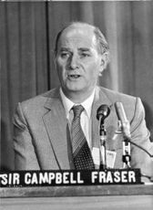 Sir Campbell Fraser in a conference.