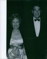 Fred MacMurray standing with his wife June Haver.