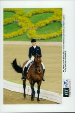 Tinne Vilhelmson and Caprice during their dressage competition.