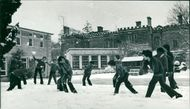 Schools 1970-1979:A last snowball fight.