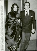 Bianca Jagger together with Olivier de Montal