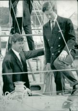 Chay Blyth with Prince Charles