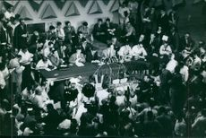 Government leaders of Algiers in a press conference, 1965.