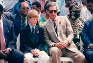 Prince Charles together with Prince Harry during the Zulu ritual