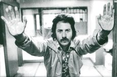 """Dustin Hoffman in the movie """"Staright time""""."""