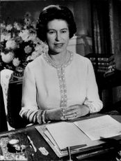 Queen Elizabeth keeps her annual anniversary sent from Buckingham Palace.