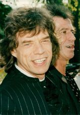 Mick Jagger and Keith Richards in the band The Rolling Stones
