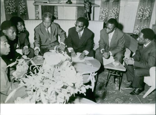 Group of black man in a meeting