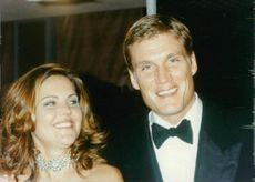 Dolph Lundgren with friend..