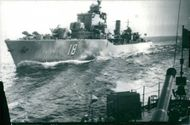 The Destroyer Halland on the Baltic Sea