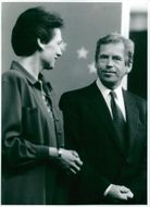 Vaclav Havel together with Catherine Lalumeiere in Strasbourg