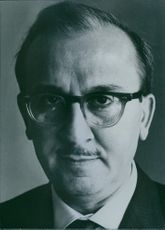 Portrait of Syrian diplomat Dr. George Tomeh, 1965.