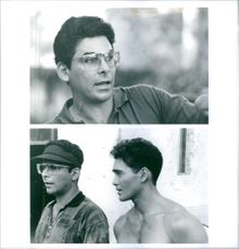 Director Sheldon Lettich and Mark Dacascos behind the scene from Only The Strong movie.