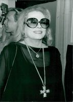 Anita Ekberg participates in the advertising campaign for Kappahl
