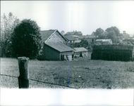 View of houses of the family Girerd at a farm in Charvieu-Chavagneux  1965 The murders of the family Girerd
