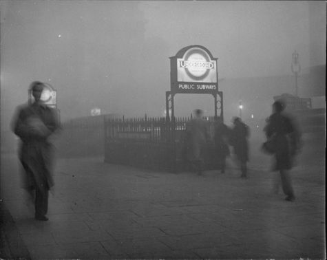 Immigrant workers seek warmth and light in the Hyde Park Corner underground station