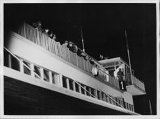 The crowd awaiting the Atlantic Flight Björkvall at Bromma Airport - 7 October 1936